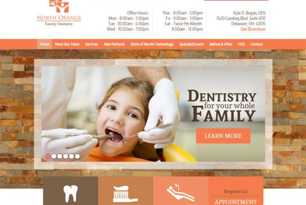 North Orange Family Dentistry - Family Dentistry Website