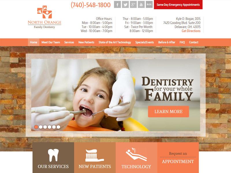 North Orange Family Dentistry - Family Dentistry Website