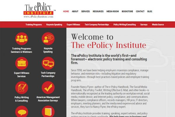 The ePolicy Institute - Business Training Website