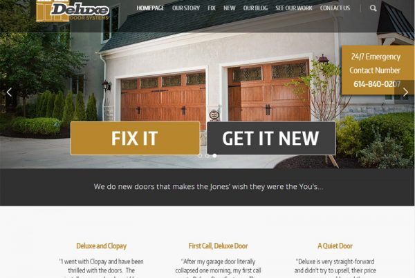 Deluxe Door Systems - Door Installation and Repair Website