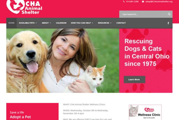 CHA Animal Shelter - Animal Shelter Charity Website