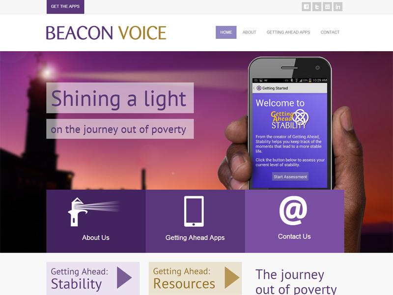 Beacon Voice - Mobile App Website