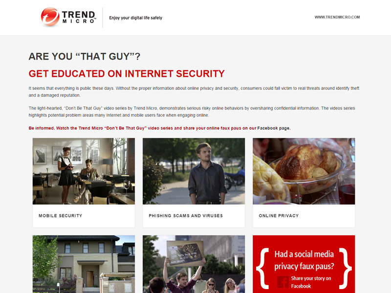Trend Micro - Internet Security Website