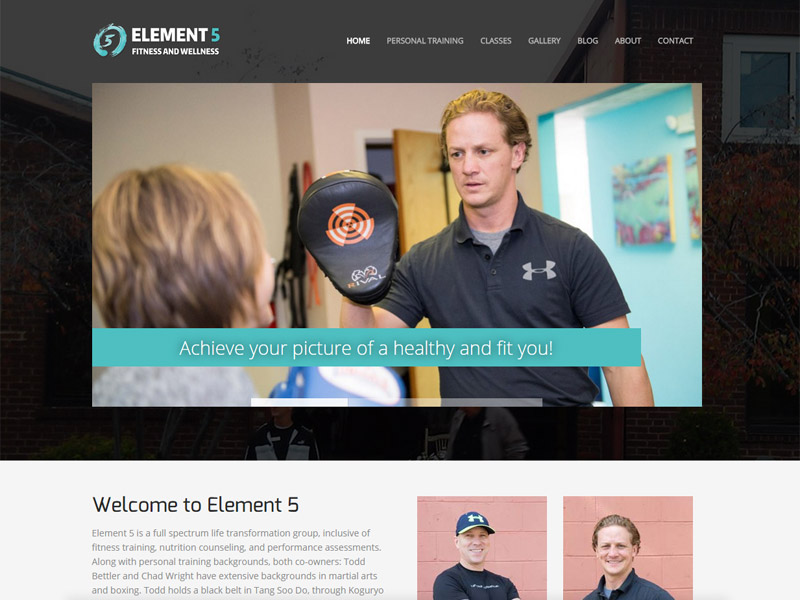 Element 5 Fitness and Wellness - Fitness and Wellness Website