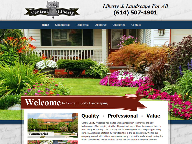 Central Liberty Properties - Landscaping Website