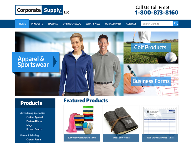 Corporate Supply - Custom Business Supply Website