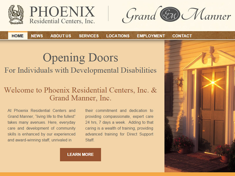 Phoenix Residential Centers and Grand Manner - Residential Care Center Website