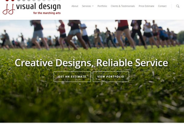 JJ Visual Design - Marching Band Design Website