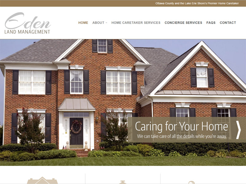 Eden Land Management - Home Caretaker Services Website