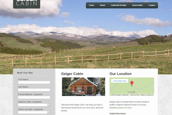 Geiger Cabin - Cabin Rental Website