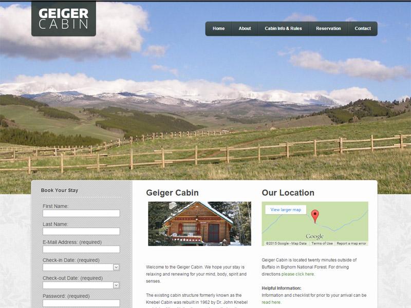 Geiger Cabin - Cabin Rental Website