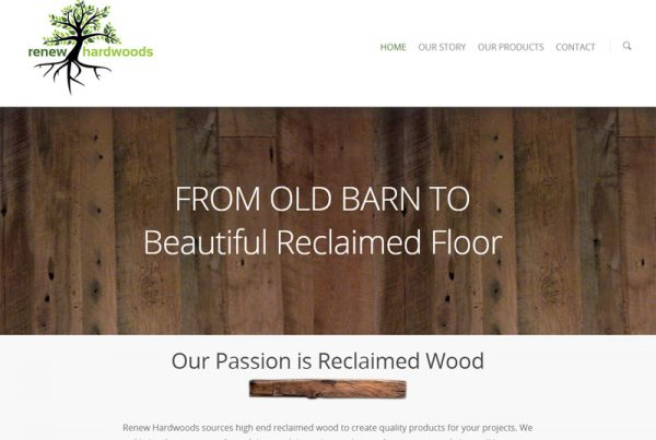 Renew Hardwoods - Wood and Craft Business Website