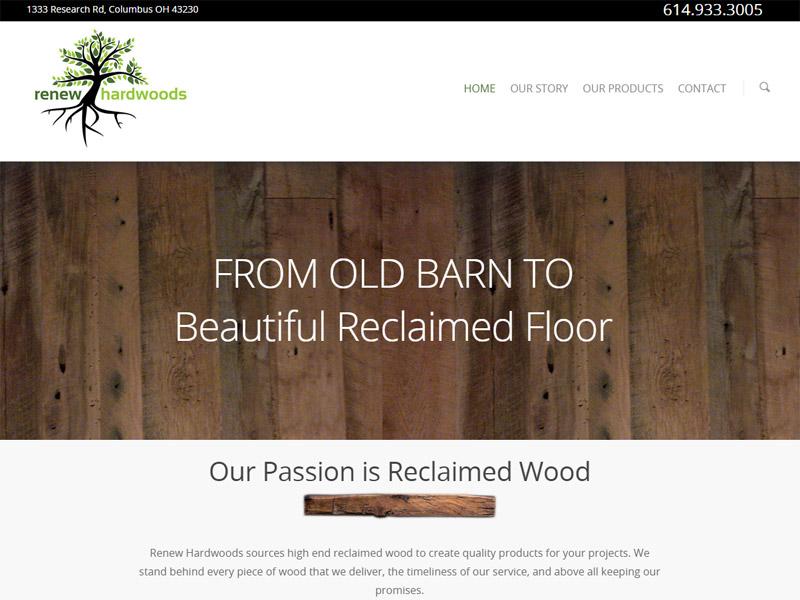 Renew Hardwoods - Wood and Craft Business Website