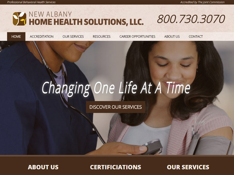 New Albany Home Health Solutions, LLC. - Healthcare Website