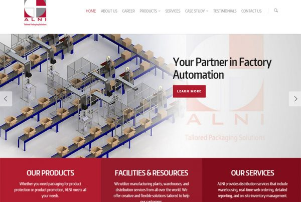 ALNI - Manufacturing Business Website