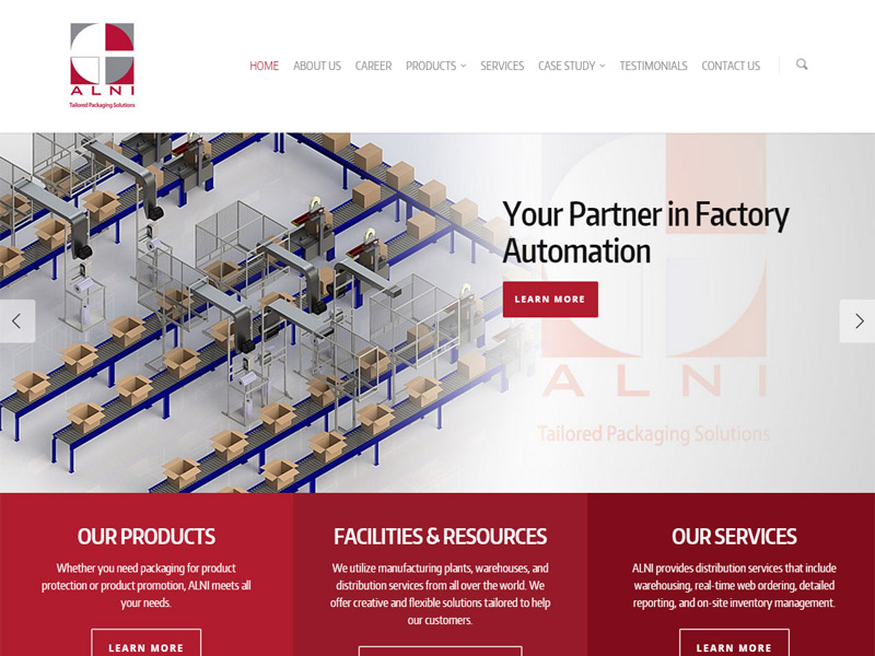 ALNI - Manufacturing Business Website