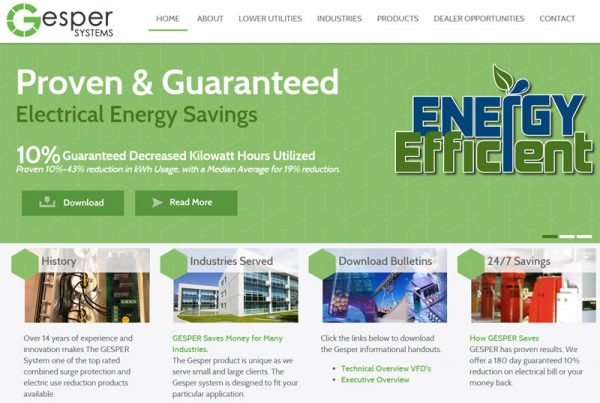 Gesper Systems - Energy and Technology Website
