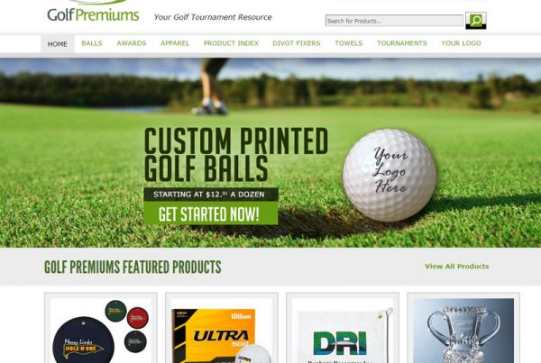 Golf Premiums - Golfing Business Website