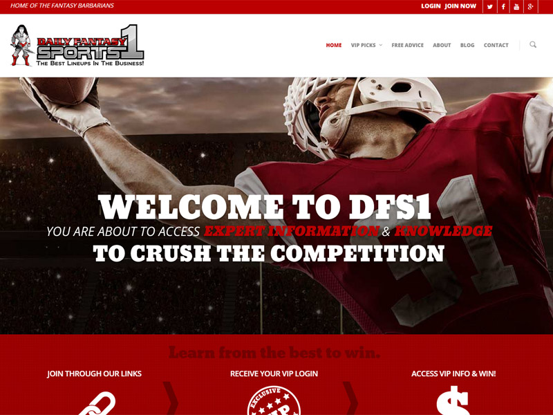 Daily Fantasy Sports 1 - Fantasy Sports Website