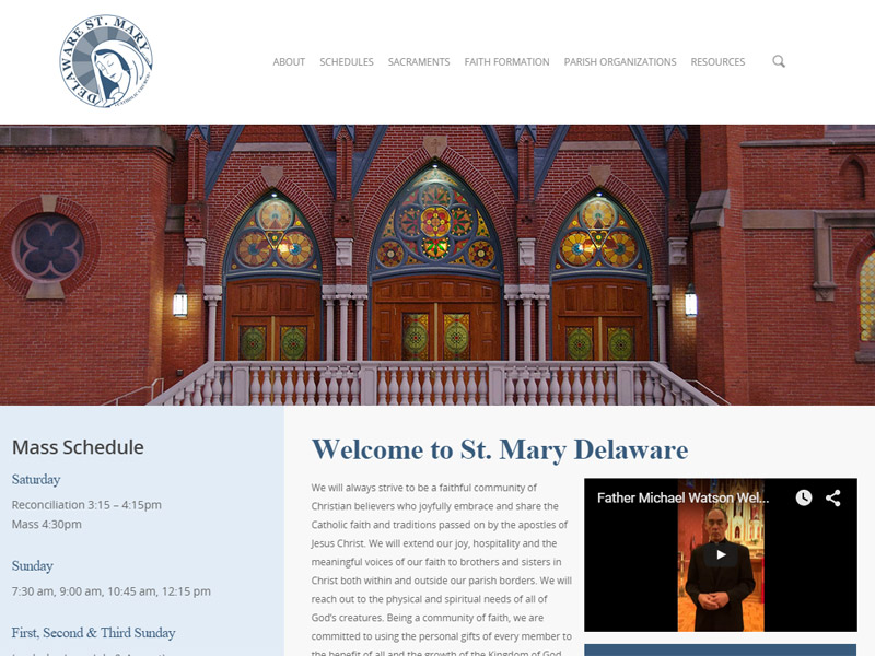 Delaware St. Mary Catholic Church - Church Website