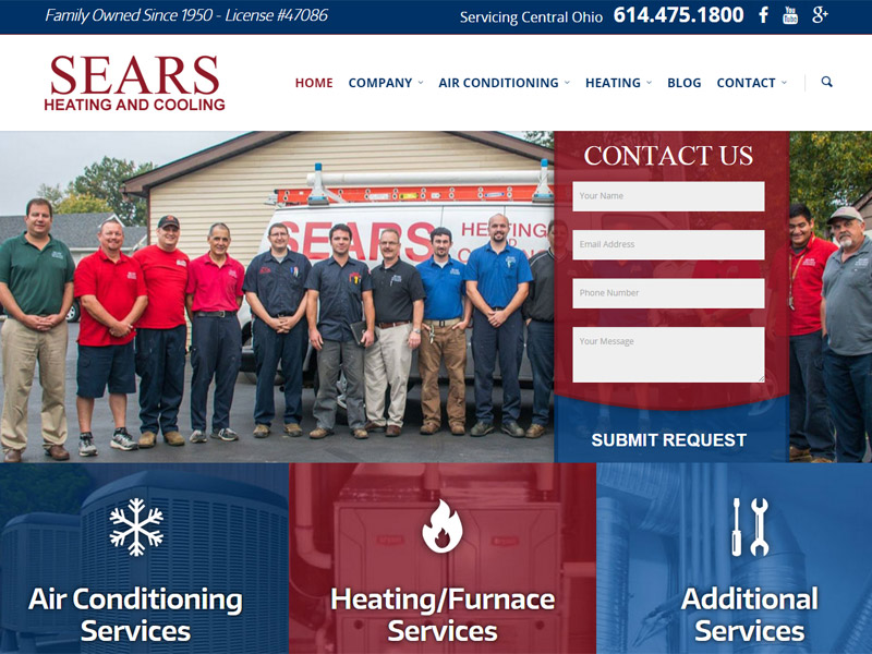 Sears Heating and Cooling - Heating & Cooling Website