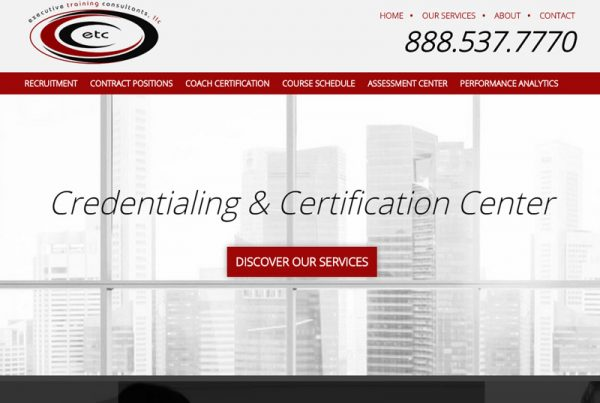 Executive Training Consultants - Assessment and Certification Website
