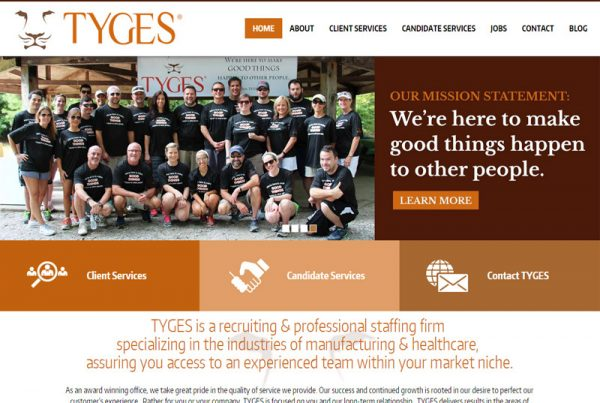 Tyges - Staffing Website