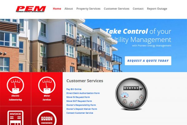 Pioneer Energy Management - Energy Management Website