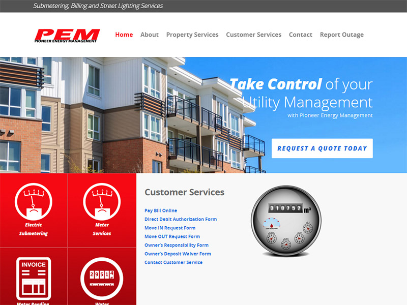 Pioneer Energy Management - Energy Management Website
