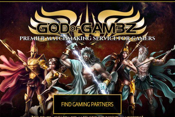 God of Gam3z - Gaming Community Website