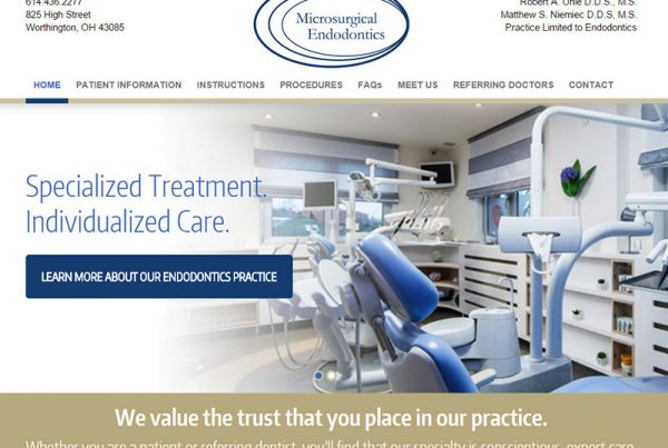 Microsurgical Endodontics - Medical Website Design