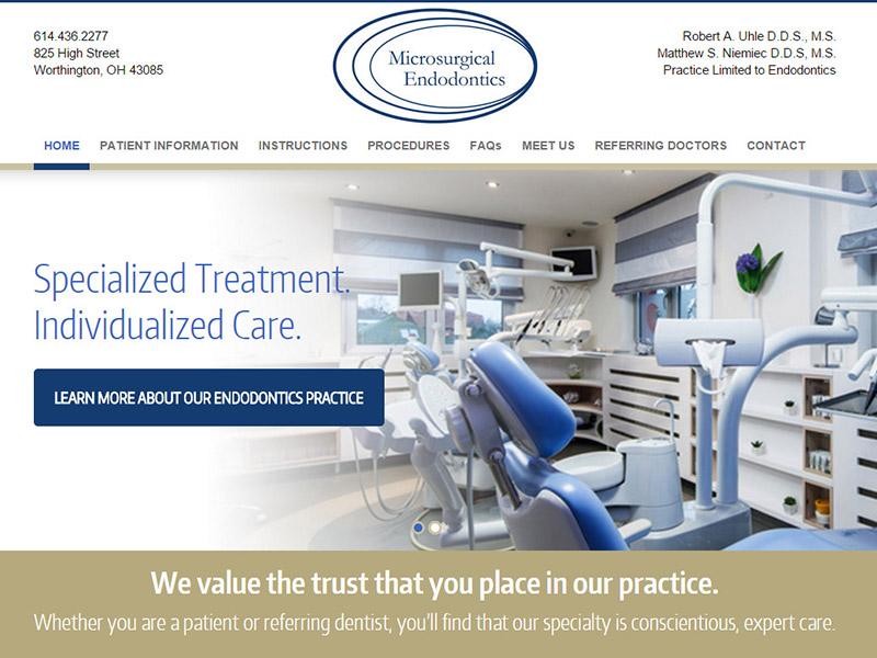 Microsurgical Endodontics - Medical Website Design