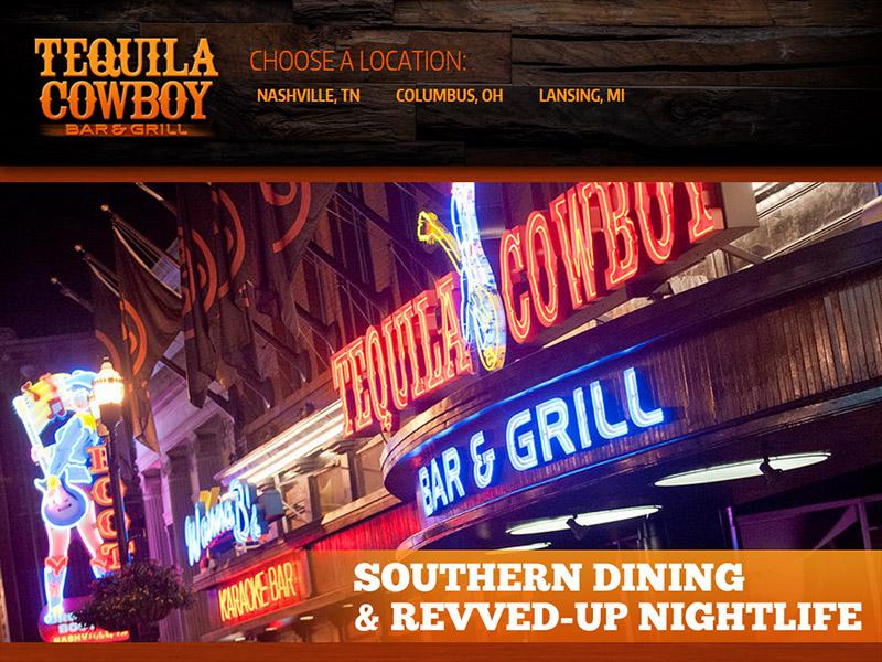 Tequila Cowboy Bar & Grill - Restaurant Bar & Grill Website