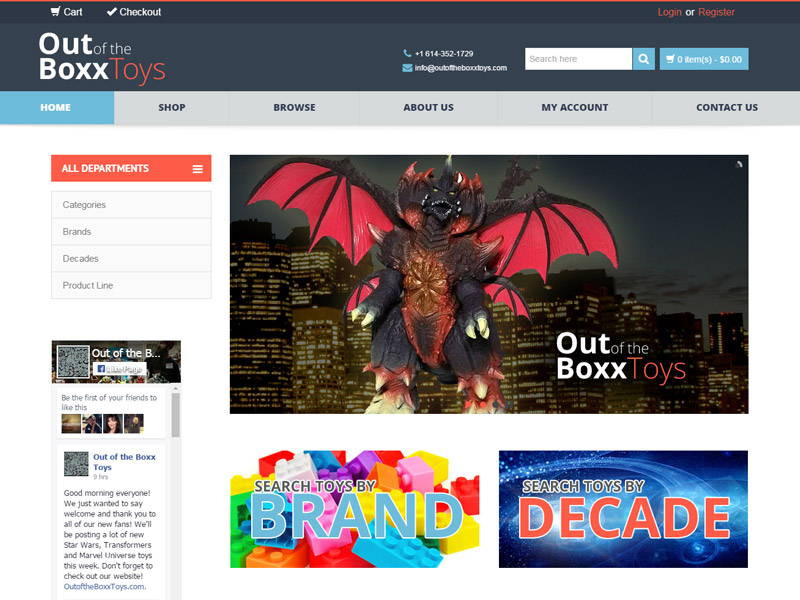 OUT OF THE BOXX TOYS - Consignment Website