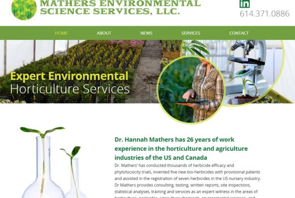 Mathers Environmental - Horticulture Services Website