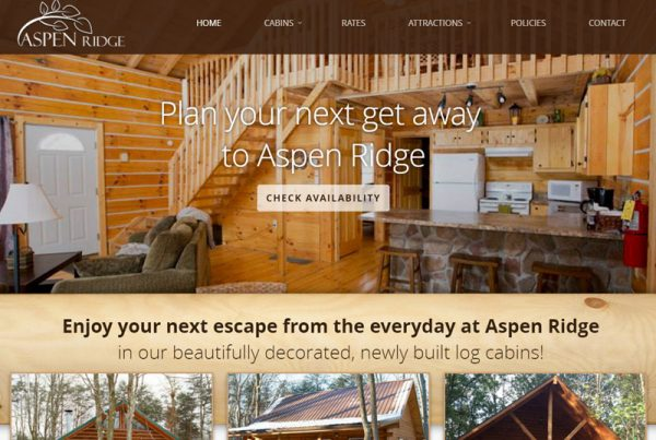 Aspen Ridge - Cabin Rental Website