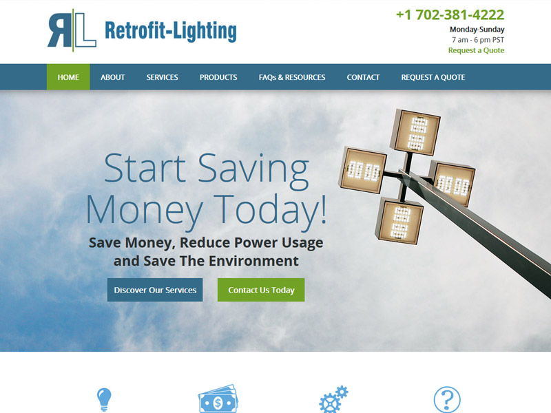 Retrofit Lighting - Environmental Lights Website