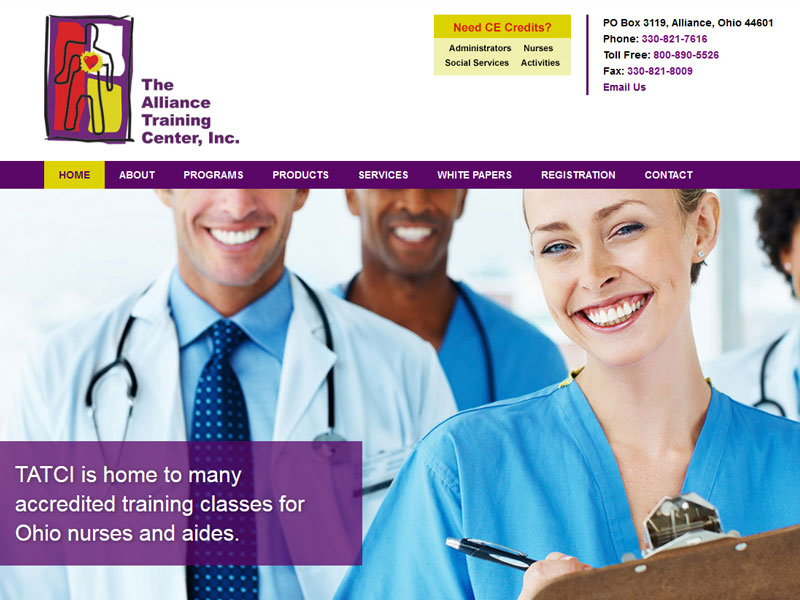 The Alliance Training Center - Nurse Training Website