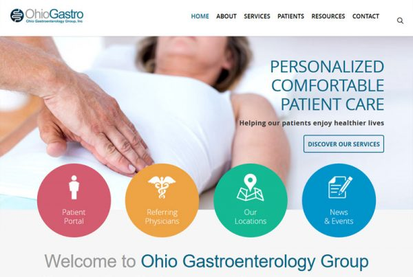 Ohio Gastro - Healthcare Website