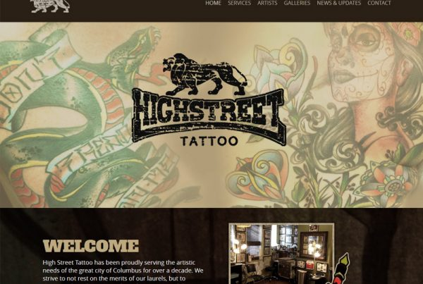 High Street Tattoo - Tattoo Business Website