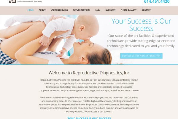Reproductive Diagnostics, Inc - Reproductive Healthcare Website