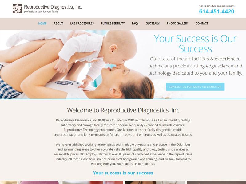 Reproductive Diagnostics, Inc - Reproductive Healthcare Website