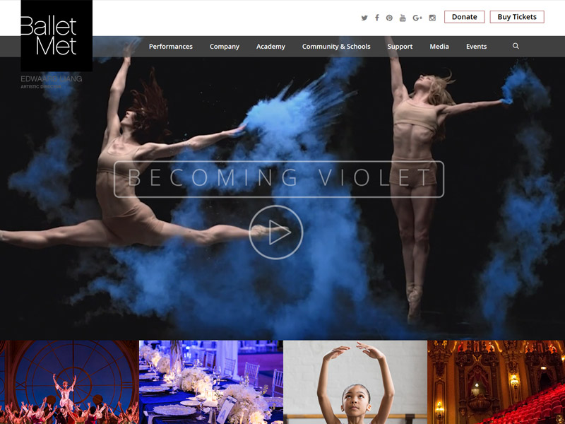 Ballet Met - Dance and Theater Website