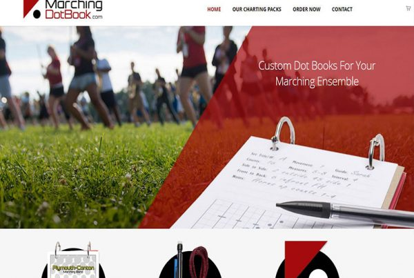 MarchingDotBook - Custom Dot Book Website