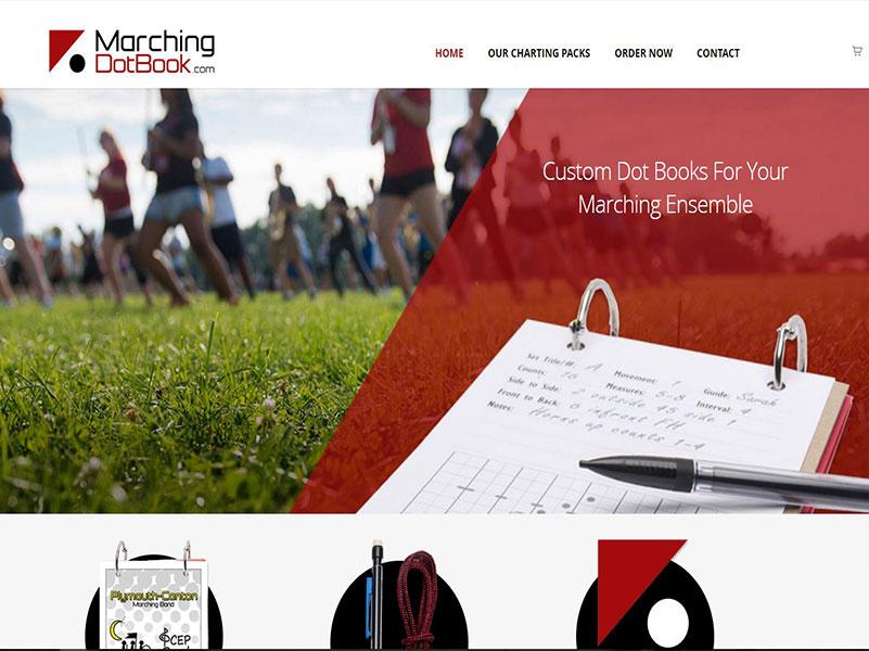 MarchingDotBook - Custom Dot Book Website