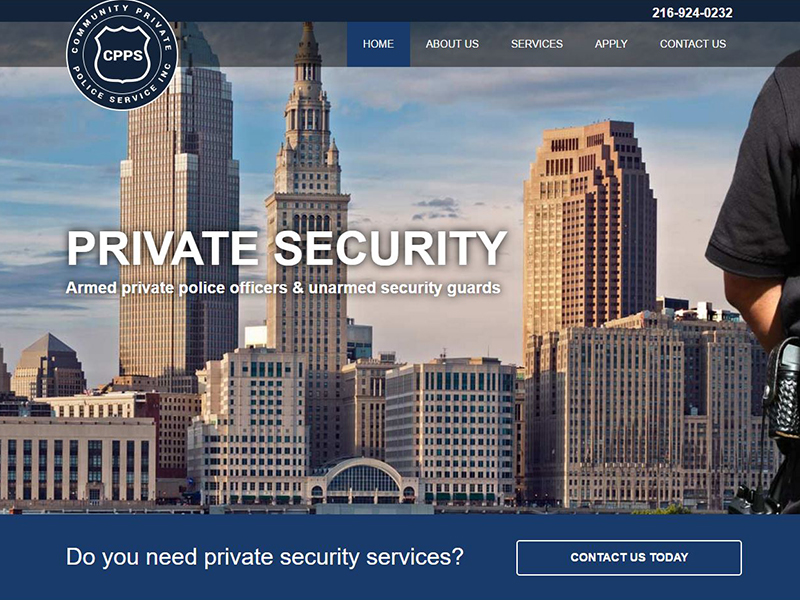 Community Private Police Service - Private Security Website