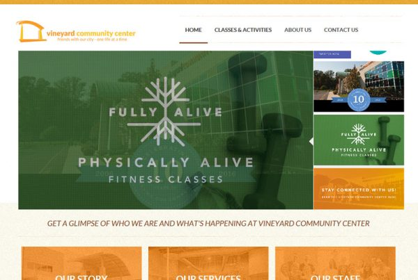 Vineyard Community Center - Online Registration Website Design
