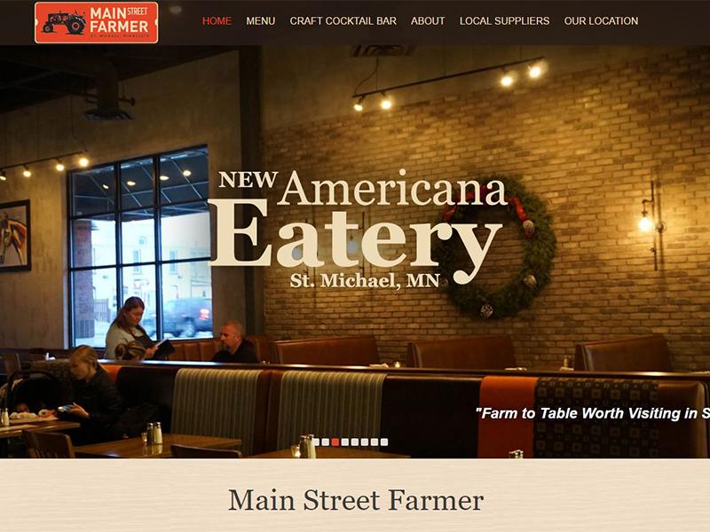 Main Street Farmer - Restaurant Website