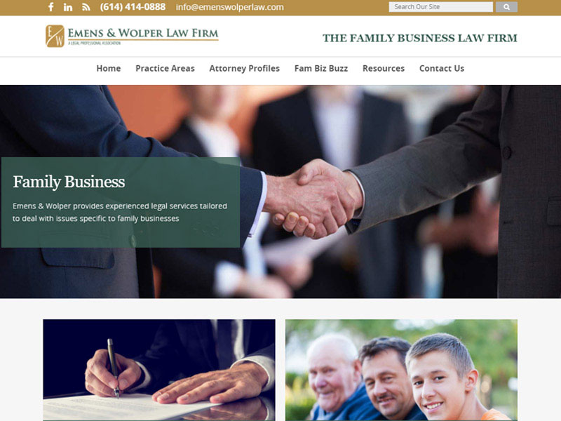Emens & Wolper Law Firm - Attorney Website