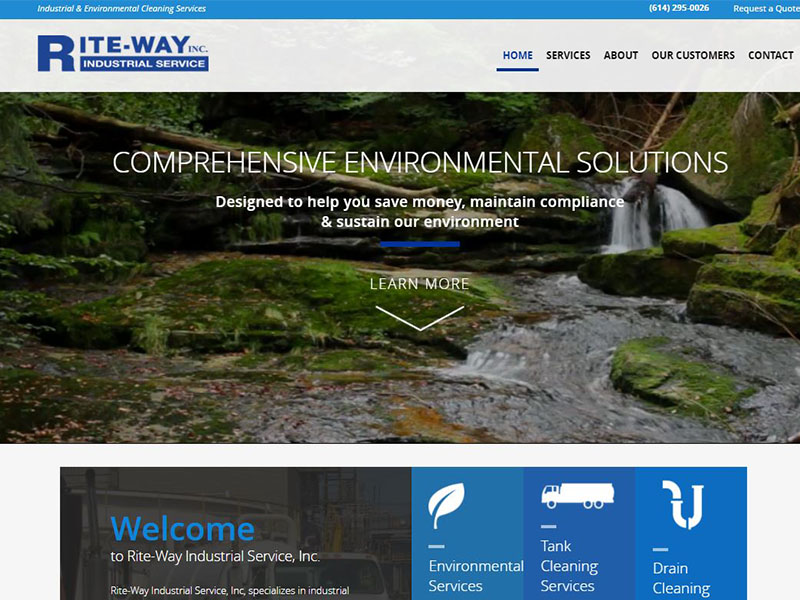 Riteway Industrial - Industrial Cleaning Website